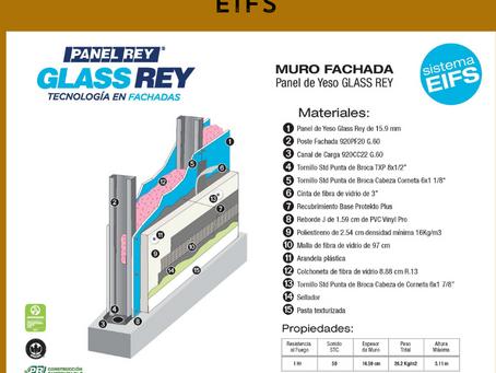 Ensambla un muro fachada de sistema EIFS con Glass Rey