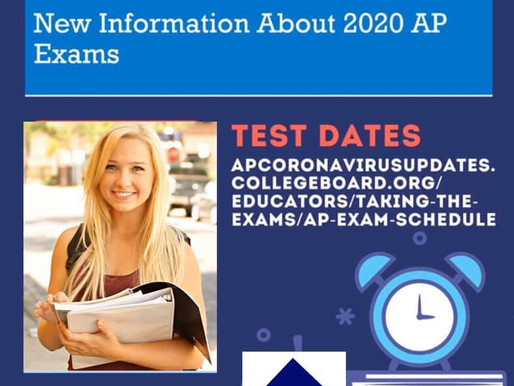 New 2020 AP Exams Information