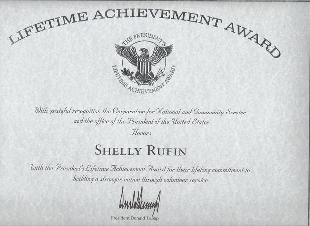 Presidents Life Time Achievement Award -