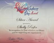 GFSA World Kindness  Day Award - Silver