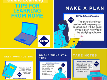 Tips for Learning from Home.