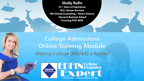 EDFIN Online Training Modules - College Admissions