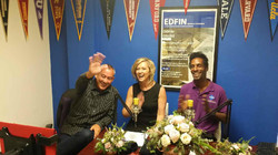 Shelly Johnson Rufin-College Planner and Co-Host Rob Cando Interviewing Kevin Harold Raptor Films ph