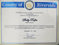 Riverside County Certificate