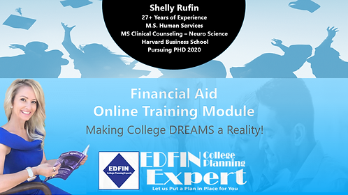 EDFIN Online Training Module - Financial Aid