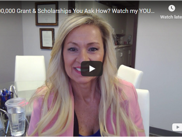 $200,000 Grant & Scholarships You Ask How? Watch my YOUTUBE Video.