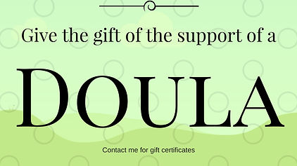doula services gift certificates