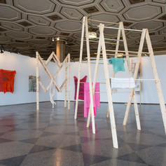 Installation view of MFA thesis exhibition