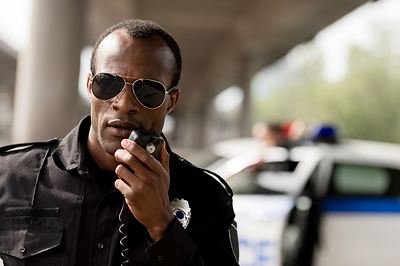 Peace Officer with radio