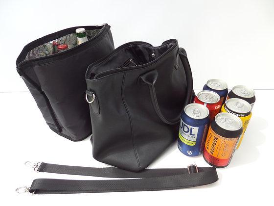 JCB-001 Insulated Beverage Cooler Bag Black