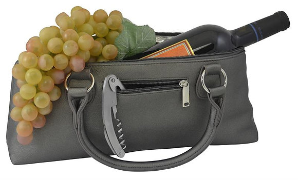 3028-SG - Fully Insulated Wine Clutch Bag  Steel