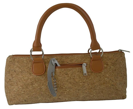 3020-CR - Fully Insulated Wine Clutch Bag Cork