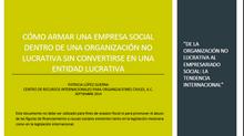 BOLETÍN INTERNACIONAL DE OSC. MARZO 2015: DE LA ORGANIZACIÓN NO LUCRATIVA AL EMPRESARIADO SOCIAL: LA