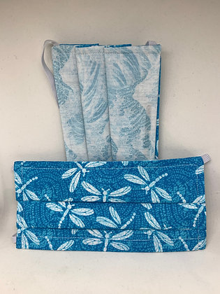 Dragonflies and Waves - adult medium and large
