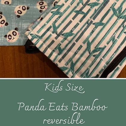 Face Mask - Panda Eats Bamboo - Big Kids size