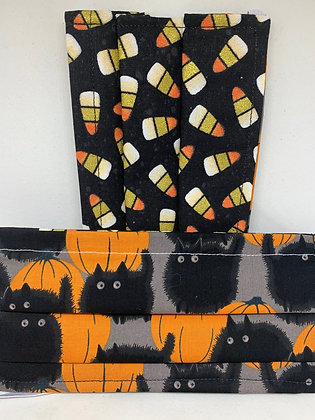 Halloween Cats & Corn with Optional Cat Ears - Adult and Kid Sizes