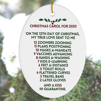12 Days of Christmas Parody Ornament