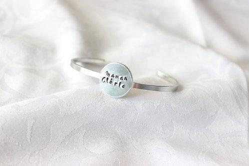 """Bracelet médaillon """"Maman Chérie"""""""