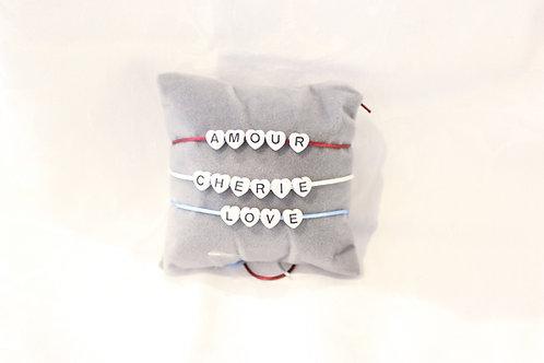 Bracelet bulles perles coeurs