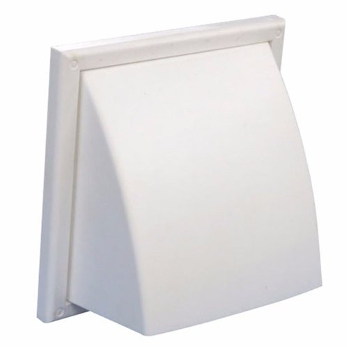 Cowled Wall Vent With Gravity Flap GGF125 (nexk dia)