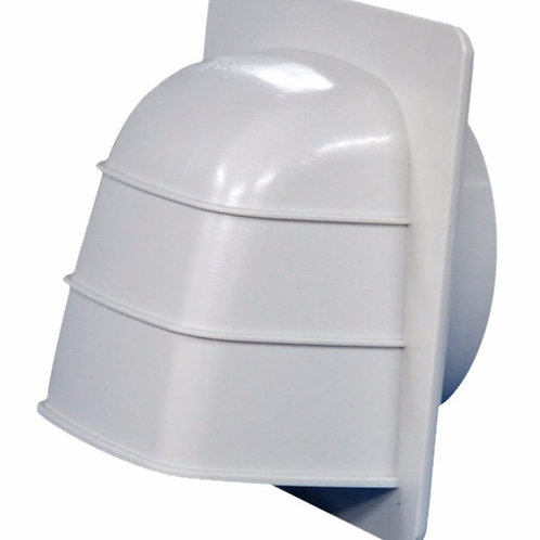 Cowled Wall Vent With Gravity Flap - Noiseless GGN125 (nexk dia)