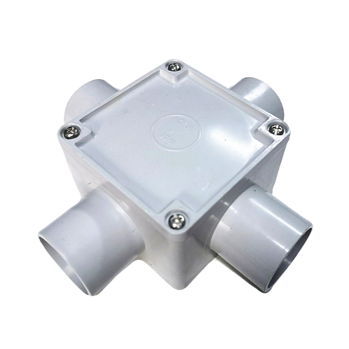 32mm Four Way Square Junction Box (77*77*54)