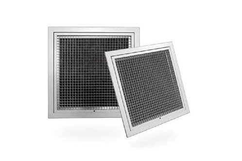 HEG-F 900mm x 550mmF HINGED EGGCRATE GRILLE WITH FILTER