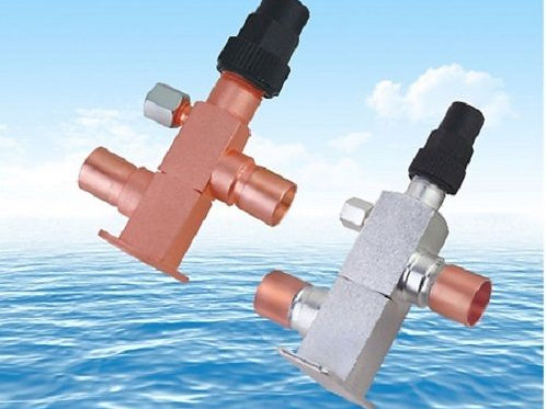 Vertical Valves with Brackets for Refrigeration Condensing Unit JL30-D14D14G1-01