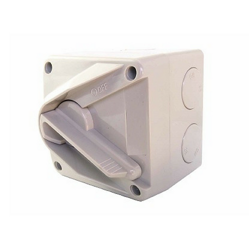 16A Single Phase Weatherproof Electric Isolator Switch IP66