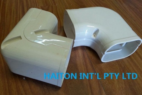 UV resistant 102mm PVC FLAT BEND 90 DEGREE PW-3 FOR Split Air con