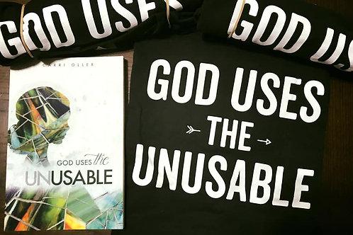 God Uses the Unusable Book & Tee Bundle