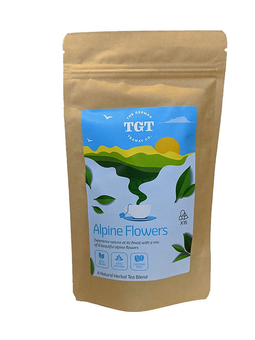 TGT Alpine Flowers Herbal Tea Blend with Linden & Chamomile Flowers (15 Teabags)