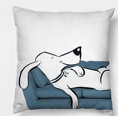 Big Day couch dog pillow L Stein