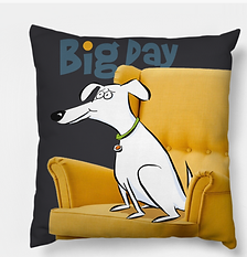 Big Dog Laurie Stein Pillow