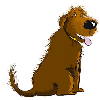 brown dog sitting L Stein.png