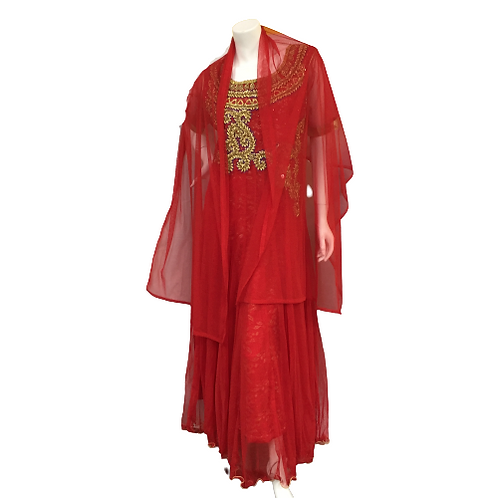 Indian Red Sari Size M
