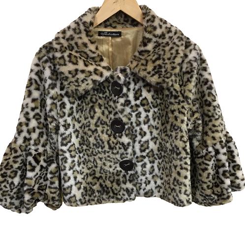 Seductions Leopard Print Jacket Size M