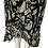 Thumbnail: Black & White Flowy Skirt Size 5