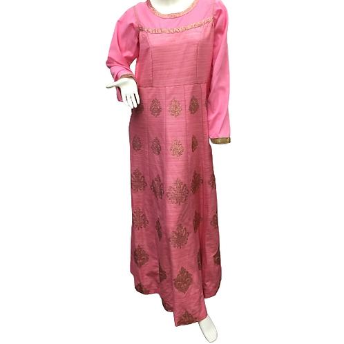 Custom Made  Pink Dress Size L