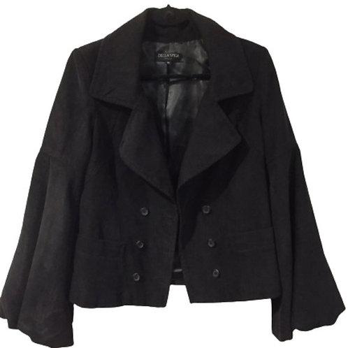 Della Spiga Italy Black Jacket Size 10