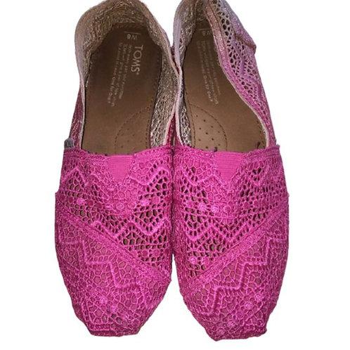 Toms Crochet flat Size 8