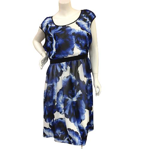 Rick's Blue Pattern Dress Size XL
