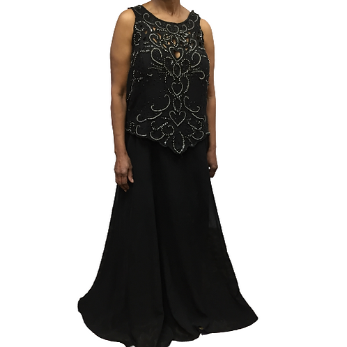 Custom Made Black Beaded Gown