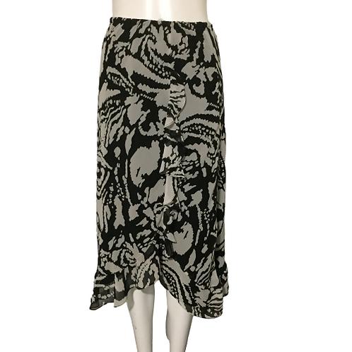 Black & White Flowy Skirt Size 5