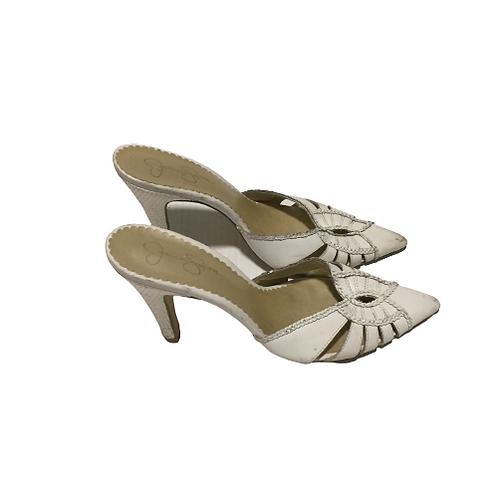 Jessica Simpson White Slippers Size 10B