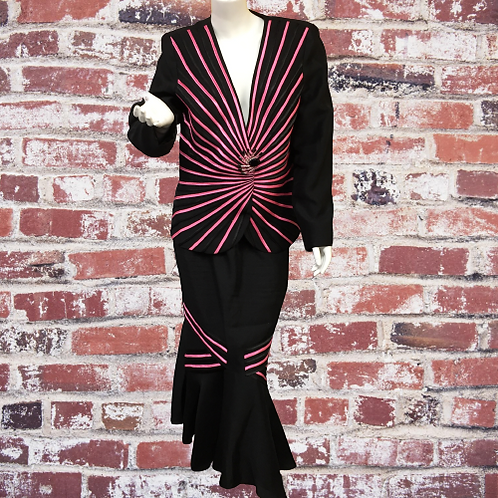 Custom Made Skirt & Top Size M-L