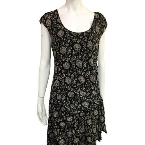 Max Studio Black Floral Dress Size L