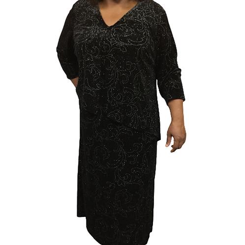 Connected Women Black Dress Size L