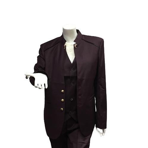 Burgundy 3 Piece Suit Size XL