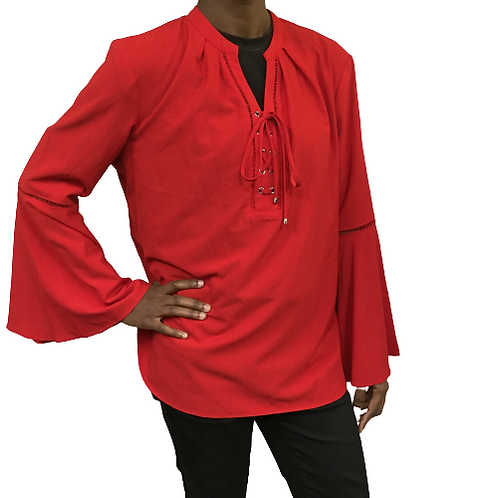 Peter Nygard Petite Red Top Size L/G